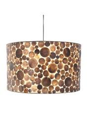 Villaflor Coin Gold Cylinder hanging lamp 55 cm