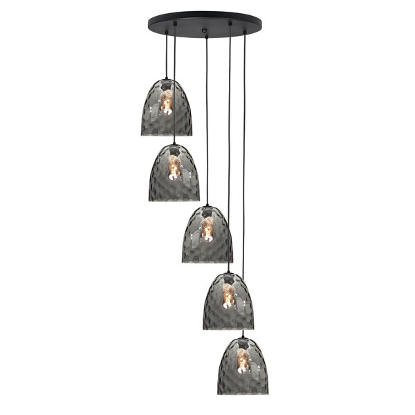 HighLight  Hanglamp  Bubbles 5  lichts  rond