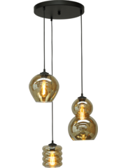 Master Light Hanging lamp Quinto Round 3 lights
