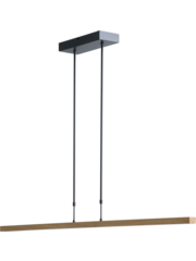 Master Light Hanglamp  Oak Naturel met black nikkel