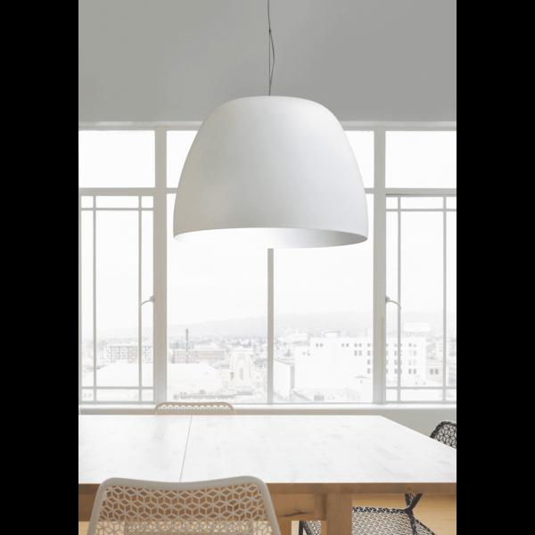 Master Light Hanging lamp Industria Ogiva White