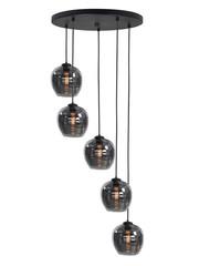HighLight  Hanglamp Smoke rond 5 lichts