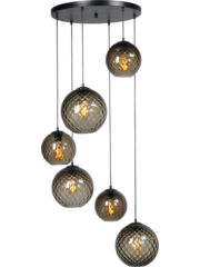 Master Light Hanging lamp Baloton 6 lights round
