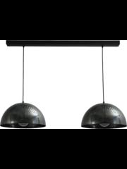 Master Light Hanging lamp Larino Dappled Oil 2 lights