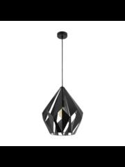 Eglo Hanging lamp Carlton 1 Black-Silver
