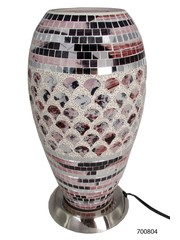 Sweet Lake Compagny Table lamp Mosaic Glass pink-silver