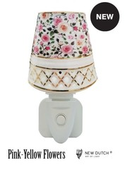 Sweet Lake Compagny Stopcontact Night Light Pink -Yellow Flowers