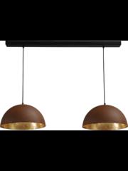 Master Light Hanging lamp Larino Rust 2 lights