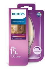 Philips Philips Flame candle Led 4 watt dimmable