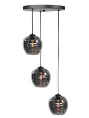 HighLight  Hanging lamp Smoke round 3 lights