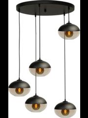 Master Light Hanging lamp Opaco 5 lights round