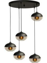 Master Light Hanglamp  Opaco 5  lichts rond