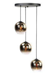 HighLight  Hanging lamp Fantasy Apple Gold round 3 lights
