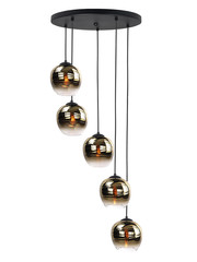 HighLight  Hanglamp Fantasy  Apple Gold  rond 5 lichts
