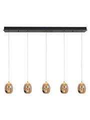 HighLight  Hanglamp  Golden Egg  5 lichts balk