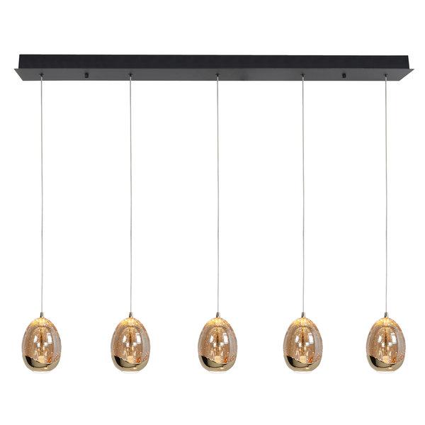 HighLight  Hanging lamp Golden Egg 5 light beam
