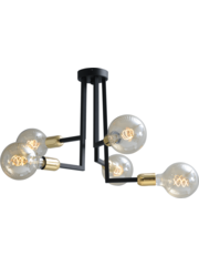 Master Light Plafondlamp Tube 5  lichts
