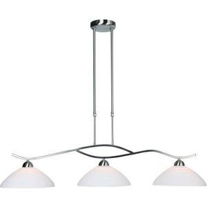 Steinhauer Hanglamp Capri 3 lichts rvs