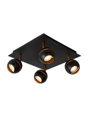 Lucide Spot Binari  Zwart 4 lichts Led