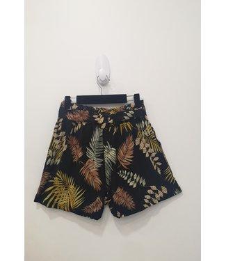 Short tropical print zwart