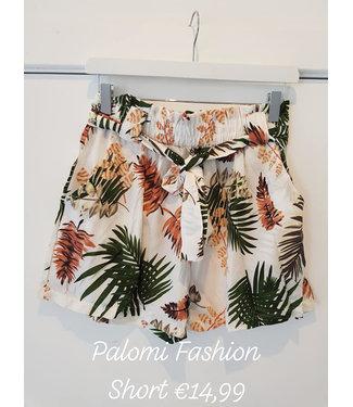 Short tropical print wit