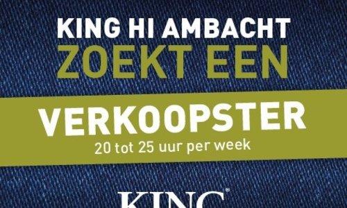 KING HI Ambacht zoekt een verkoopster!