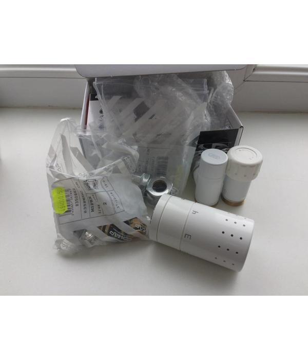 HOTHOT IN007W - Thermostatisches Design-Set Eck für Warmwasserbetrieb Weiß