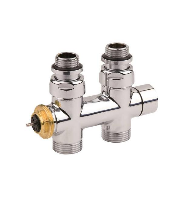 HOTHOT IN014ACH - H-piece thermostatic straight radiator valve set - chrome