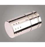 HOTHOT IN014ACH - Mittelanschluss-Ventilarmatur mit Thermostatkopf Chrom (Durchgang)