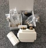 HOTHOT T023WSD - Thermostatisches Mittenanschluss-Set mit Blende Weiß