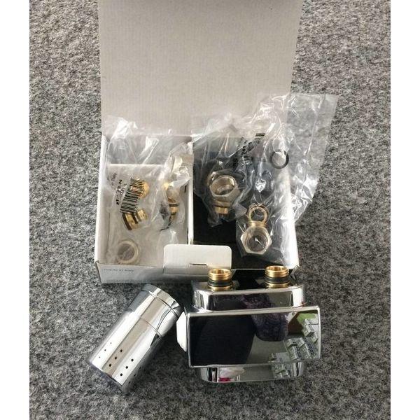 T024CHSD - Thermostatisches Mittenanschluss-Set mit Blende Chrom