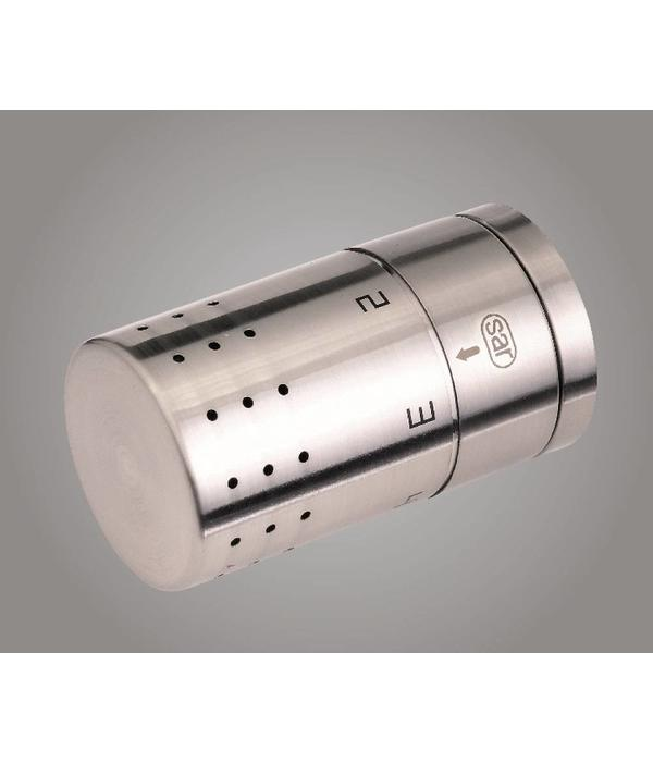 HOTHOT T025IXSD - H-piece thermostatic angled/straight radiator valve set - stainless steel cover (universal)