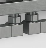 HOTHOT T027IX - Quadratische Design Winkelventile für Heizkörper Edelstahl