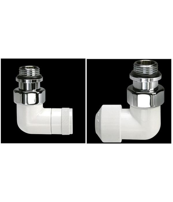 HOTHOT T032WL / T032WR - Thermostatisches Winkel-Eckventil Weiß Links-/ Rechtsanschluss