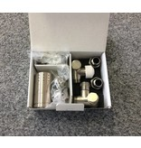 HOTHOT T037IXL / T037IXR - Thermostatic radiator valve set for dual fuel - stainless steel (left/right)