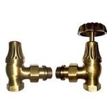 HOTHOT T046BR - Manual corner radiator Old Style valve set - bronze