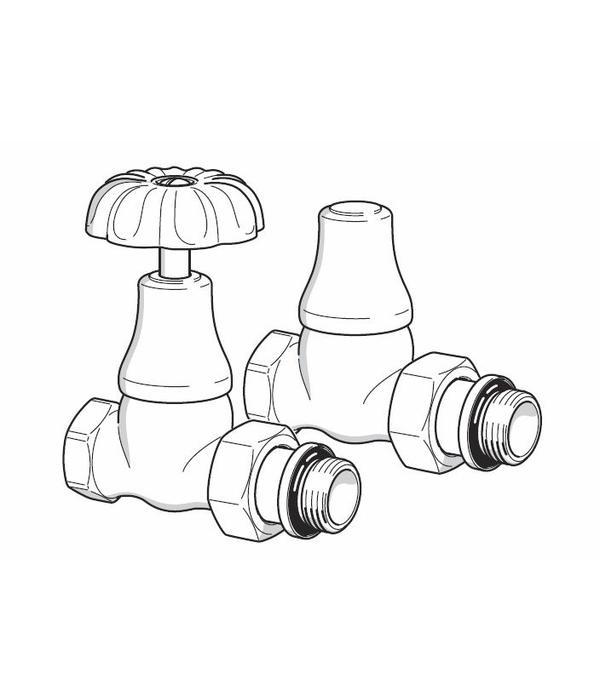 HOTHOT T049BR - Handregulierventil für Warmwasserbetrieb Bronze (gerade)
