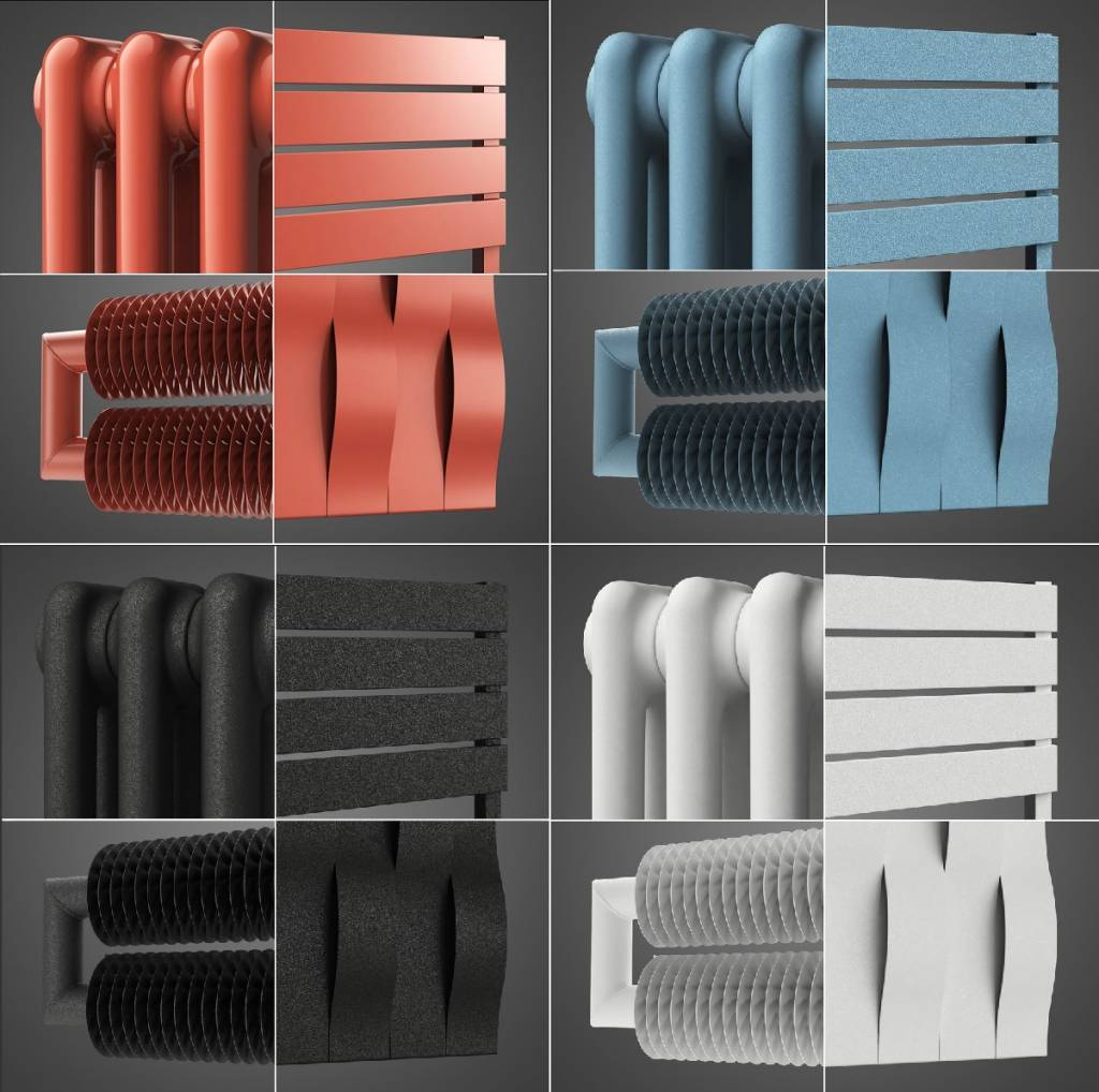 Interieur Farben - Farbige Design-Heizkörper HOTHOT