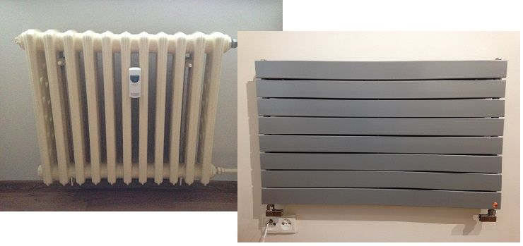 Replace old radiators with new ones – step by step