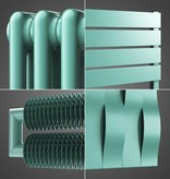 HOTHOT Radiator in Pastel Turquoise Colour RAL 6034