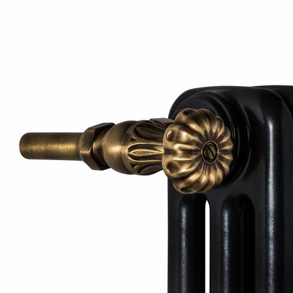 T049BR - Handregulierventil für Warmwasserbetrieb Bronze (gerade)