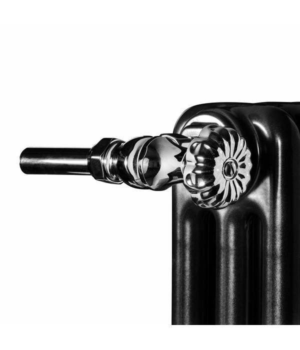 HOTHOT T045CH - Manual corner radiator Old Style valve set - chrome