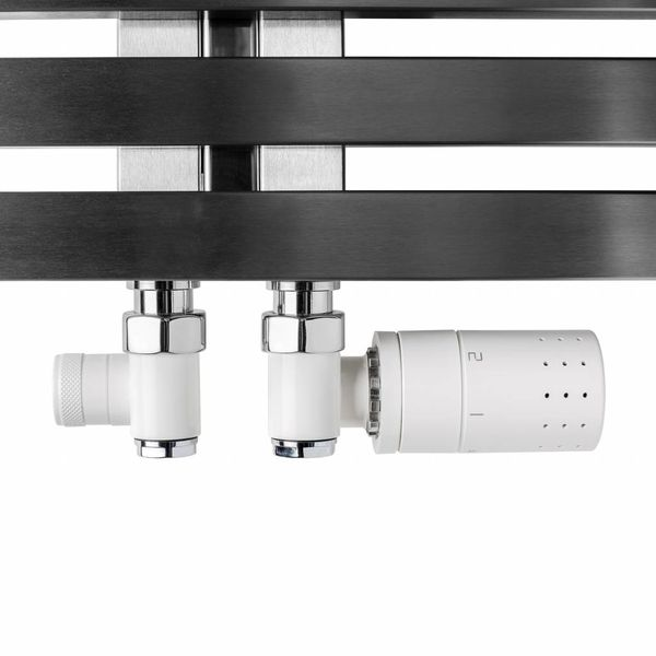 T035WL / T035WR - Thermostatic radiator valve set for dual fuel - white (left or right)