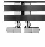 HOTHOT T031IX - Quadratische Design Eckventile für Heizkörper Edelstahl