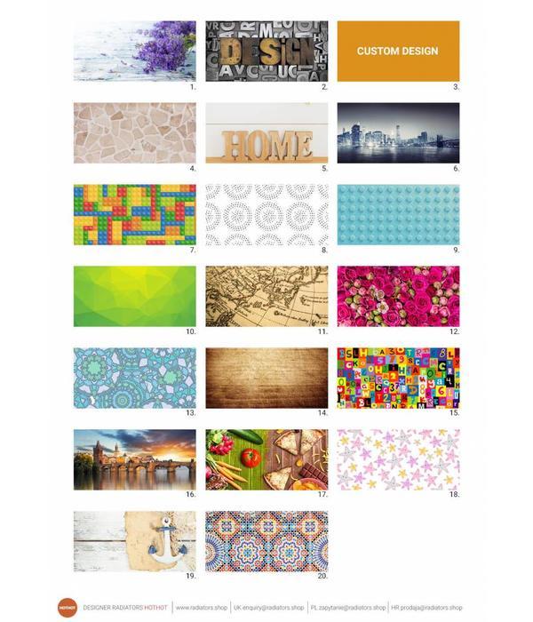 HOTHOT Design Foto - Horizontaler Designheizkörper mit Fotos