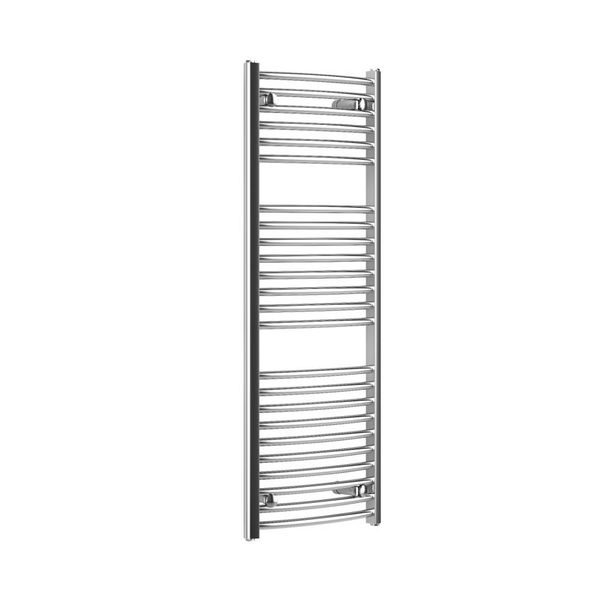 CORAL ROUND CHROME - Curved Heated Towel Rail