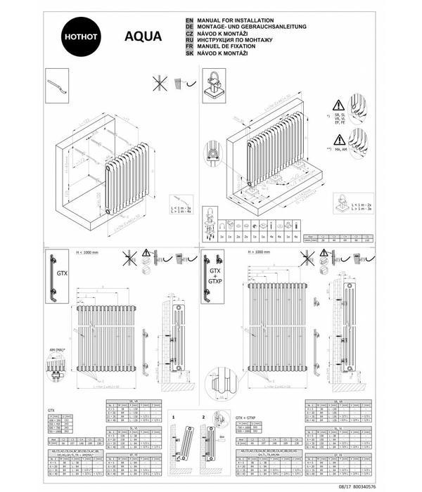 HOTHOT AQUA II. - Radiateur tubulaire vertical- Radiateur tubulaire horizontal