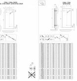 HOTHOT CORAL- Sèche-serviette - Radiateur électrique pour salle de bains