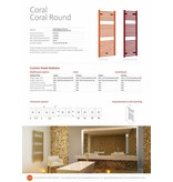 HOTHOT CORAL ROUND - Curved Heated Towel Rail in colours