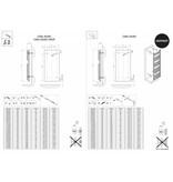 HOTHOT CORAL ROUND -CHROMÉ -  Sèche-serviettes tubes ronds